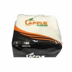 White 1 Ply Apple Premium Tissue, Size: 30x30 Inch