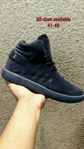 black leather adidas shoes