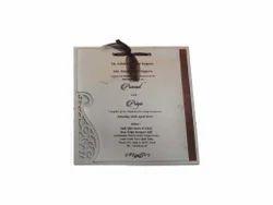 Metallic Bronz Silver Appx. Wedding And Birthday Invitation Cards