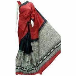 b365dfeb3c Party Wear Kalamkari Printed Silk Saree, Rs 2650 /piece, Prarambho ...