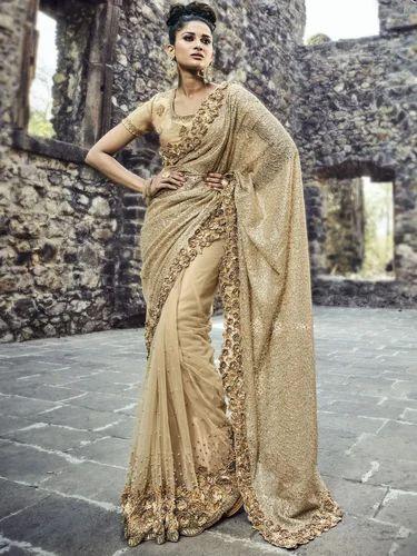52d44fe551 Ladies Net Designer Saree With Blouse Piece, Length: 6.3 M, Rs 8490 ...