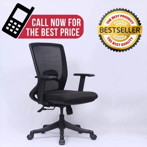 Black Workstation Office Chair Medium Back Mesh Chairs Rs 5000