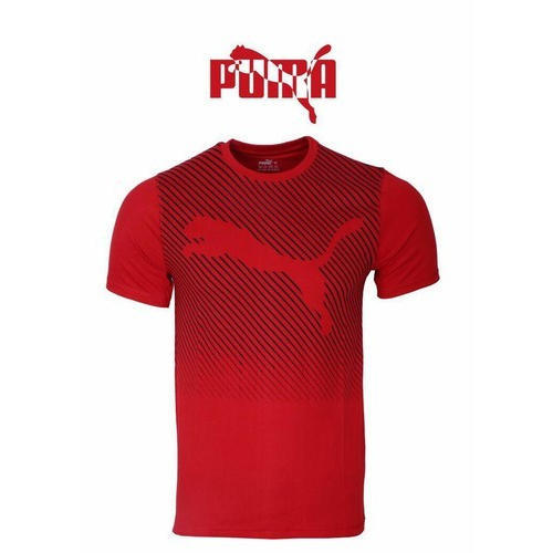 7145c83b0c9 Men Polyester Half Sleeves Red Sports T-Shirts, Rs 350 /piece | ID ...