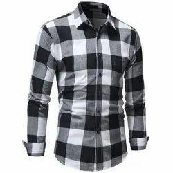 Vidira Collar Neck Mens Cotton Check Shirts