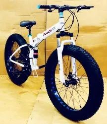 Audi White Fat Tyre Foldable Cycle
