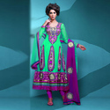 Party Wear Multicolor Ladies Stylish Dress Material