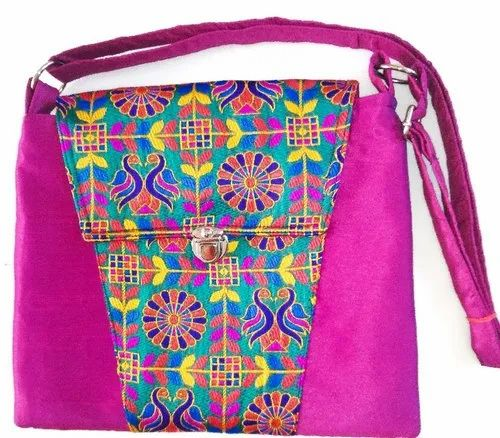 Raw Silk Cross Body Bag