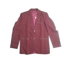 Winter Maroon School Cotton Blazer, Size: M-XXL, Packaging Type: Packet