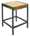 Low Lamp Table / Side Table, Industrial Style Side Table