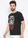 Men's Half Sleeves Round Neck Printed 100% Cotton T-shirt