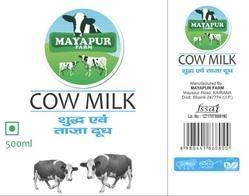 Organic 100% Fresh Cow Milk, Packaging Type: Packet
