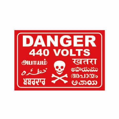 440 Volts Danger Plate