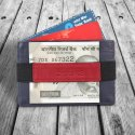 RFID Protected Genuine Leather Card Holder Money Clip Wallet