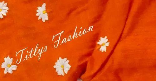 Sealy Flowers /Siuli Phul Machine Embroidery