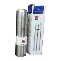 Silver Plain Thermo Steel Bottle, Capacity: 1000 mL
