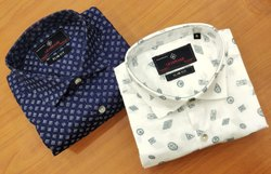 Mens Cotton Linen Printed Shirts
