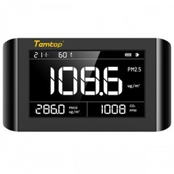 Temtop P1000 Air Quality Monitor(PM2.5 PM10 Formaldehyde CO2 TVOC Temperature Humidity)