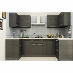 Modern Aluminium Modular Kitchen, Work Provided: Wood Work & Furniture
