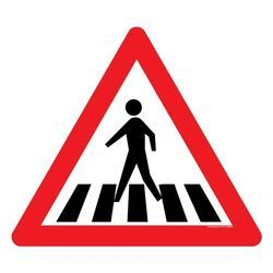 Pedestrian Crossing Sign Board