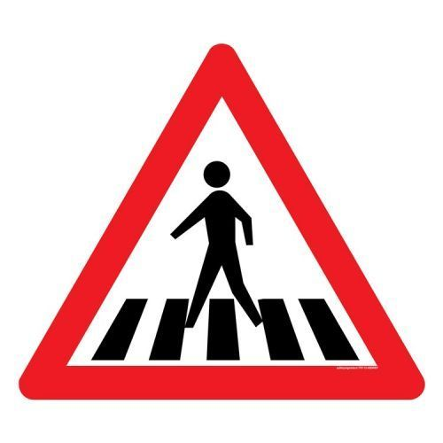 pedestrian crossing sign board at rs 2650 piece road