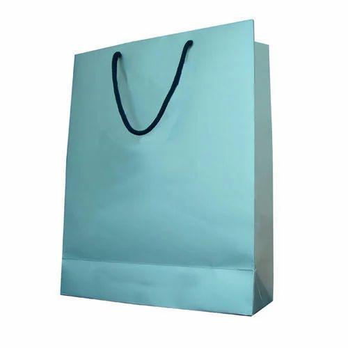 56da23940be Plain Rope Handle Paper Bag