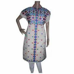 Half Sleeve Party Wear Sahej Suit Phulkari Semi Stitched Kurti