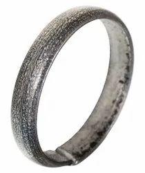 Kesar Zems Gray Coloured Iron Ring Having Open End for Men And Women