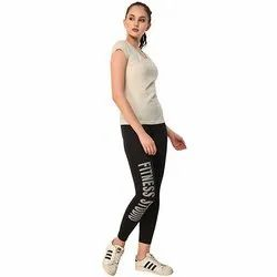 Ladies Black Fitness Stuio Track Pant