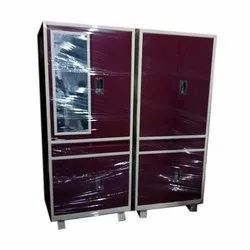 4 Door Iron Cupboard, for Home, Size/Dimension: 6 Feet