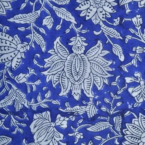 10 Yard Sanganeri Hand Block Cotton Craft Sewing Running Fabric Print Floral