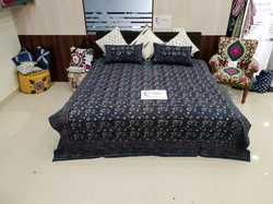 indian jaipur sanganeri 100% cotton hand block printed fabric/bed cover/bed sheet