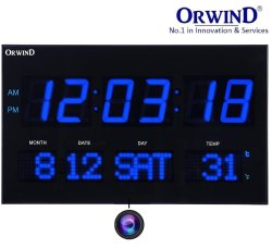 Digital Wall Clock Home Security Camera