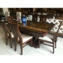 Brown Teak Wood Dining Table