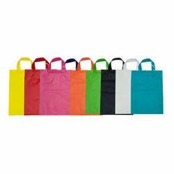 Plastic Plain Colored Carry Bags