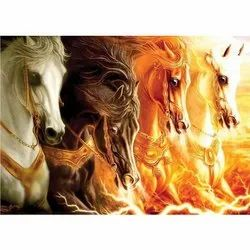 Pvc 3d Horse Wallpaper For Wall Decoration Rs 60 Square Meter