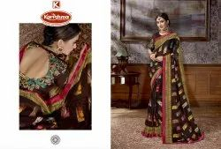 Printed Georgette Saree With Embroidered Blouse - Priyanshi-04