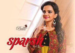 A-Line Paavi Sparsh Vol 2 Double Layer Ladies Designer Kurti