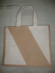 White Natural Jute Bag
