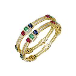 Sapphire Bangle Diamond Emerald Ruby