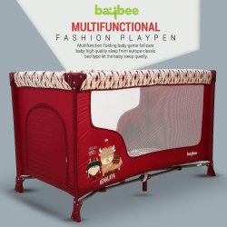 Baybee Funsport Baby Playpen Playard - Cradle for Baby Smart Folding Baby Cot