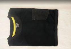 Black Round Neck T Shirt For Girls