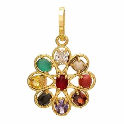 Party Wear Navratan Pendant