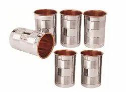 Plain Round Fusion Steel Copper Glass, Capacity: 100 Ml