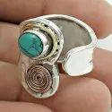 Paradise Bloom Labradorite Gemstone 925 Sterling Silver Ring