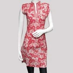 Flower Print Cotton Kurti