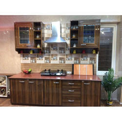 Durian Brown Pvc Kitchen Cabinets