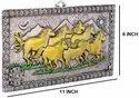 7 Horse Lucky Silver and Gold Plated Frame