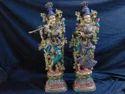 Brass Radha Krishna Idol Statue Handicraft