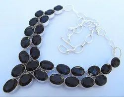 92.5 Sterling Silver Smokey Topaz Necklaces