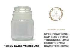 100 mL Aromatic Candle Jar with Glass Lid